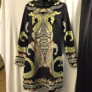 Aryeh Long Sleeve Multicolor Dress Size M